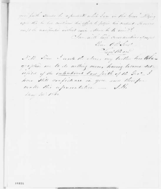 Samuel Hoard to Abraham Lincoln, Thursday, May 29, 1862  (Contract to supply arms)