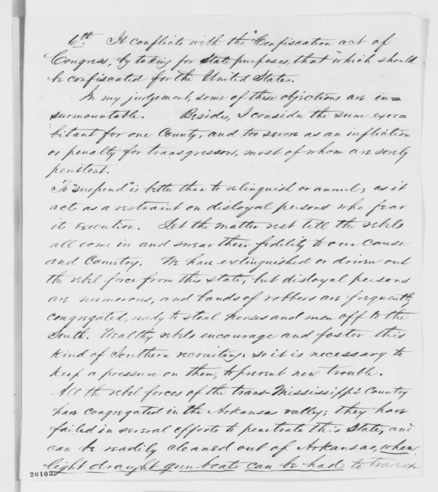Samuel R. Curtis to Abraham Lincoln, Friday, December 12, 1862  (Military affairs in Missouri)