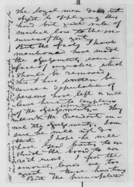 Samuel T. Glover to Montgomery Blair, Sunday, December 07, 1862  (Affairs in Missouri)
