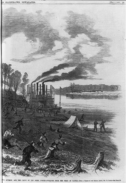 Scene at Pittsburg Landing, Tennessee River, Sunday Afternoon, 6th April 1862