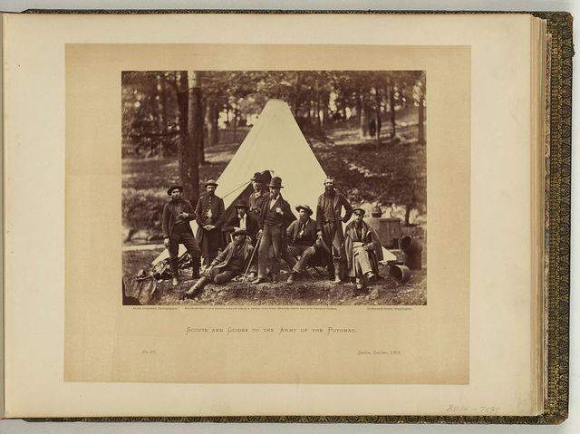Scouts and guides to the Army of the Potomac / Alex. Gardner, photographer.