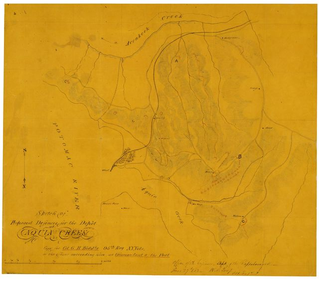 Sketch of proposed defences for the depot at Aquia Creek /