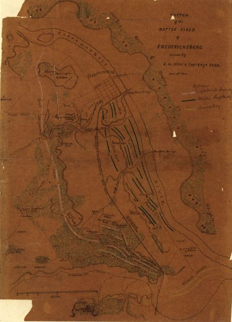 Sketch of the battle field of Fredericksburg /