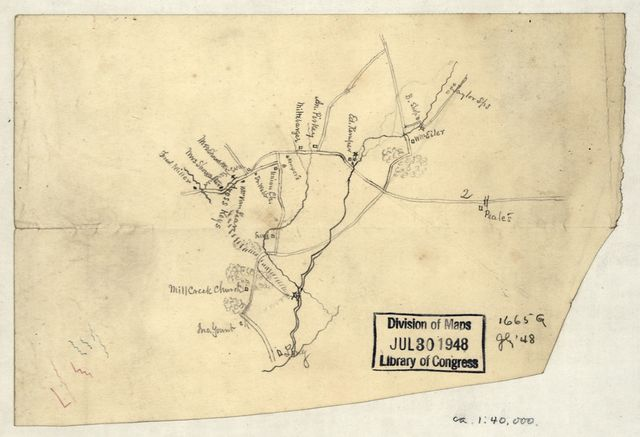 [Sketch of the vicinity of Cross Keys, Va.].