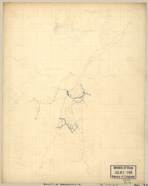 [Sketch of the vicinity of Kernstown, Va.].
