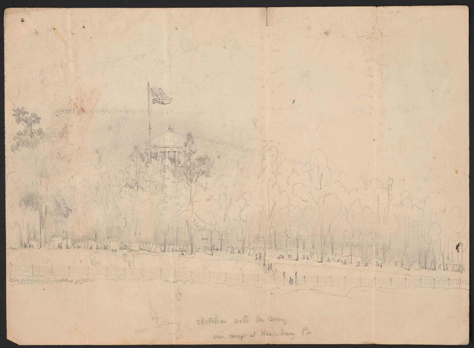 Sketches with the army - our camp at Harrisburg, Pa