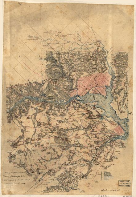 Surveys of the military defences, vicinity of Washington, D.C. /