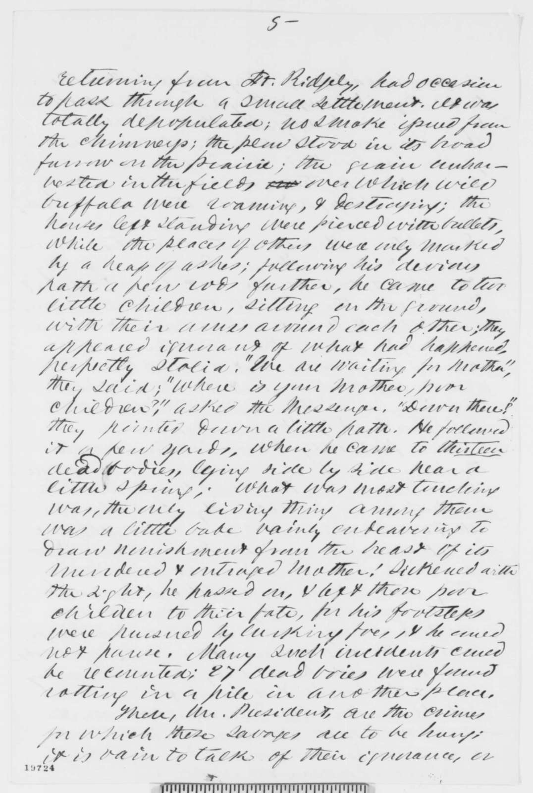 Thaddeus Williams to Abraham Lincoln, Saturday, November 22, 1862  (Opposes the pardoning of Sioux sentenced to death)