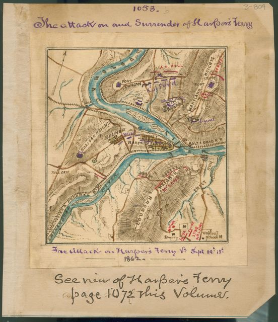 The attack on and surrender of Harper's Ferry