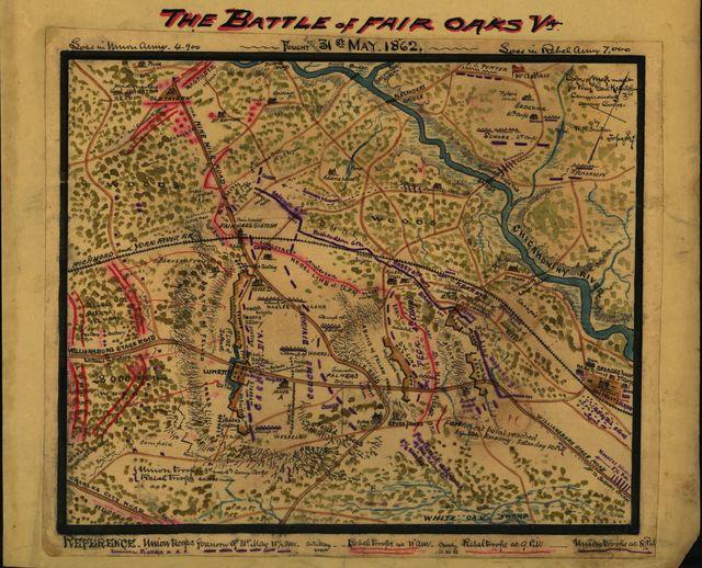 The Battle of Fair Oaks, Va. Fought 31st May 1862.