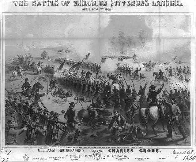 The Battle of Shiloh, or Pittsburg Landing, April 6th & 7th, 1862 / J.H. Bufford's lith., Boston.