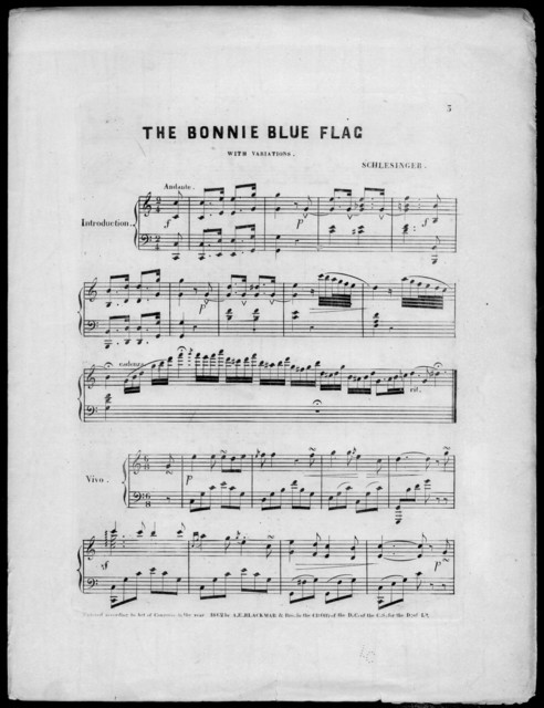 The  Bonnie blue flag, with variations