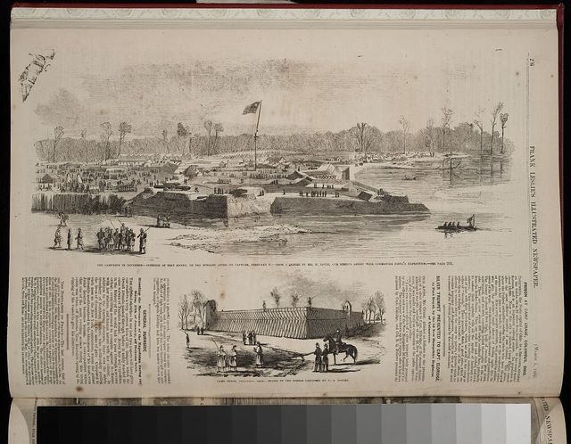 The campaign in Tennessee -- Interior of Fort Henry, on the morning after its capture, February 6 / from a sketch by Mr. H. Lovie, our special artist with Commodore Foote's expedition.