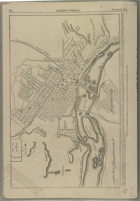 The city of Richmond, Virginia - drawn by a refugee just escaped from Secessia / .