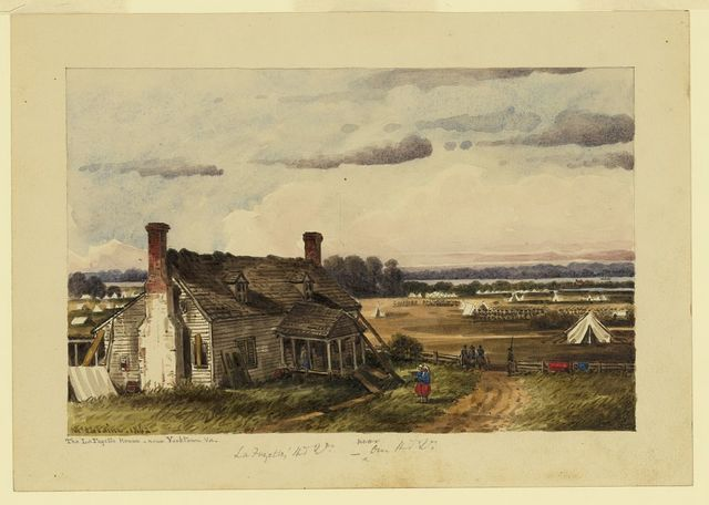 The LaFayette House near Yorktown, Va. / McIlvaine.