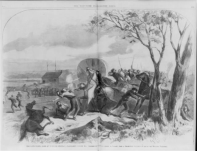 The late Rebel raid at Garlick Station, Pamunkey River, Va. [June 13, 1862]