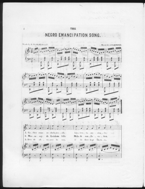 The  Negro emancipation song