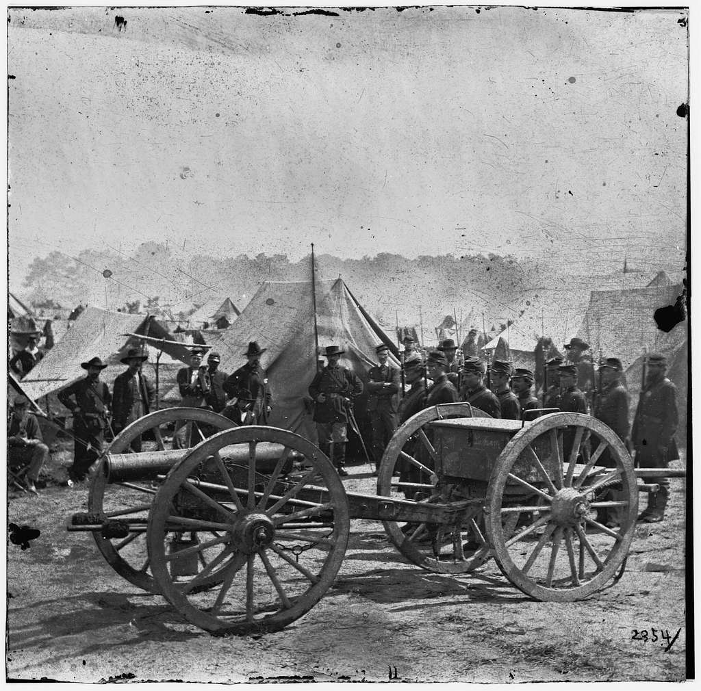 The Peninsula, Va. A 12-pdr. howitzer gun captured by Butterfield's Brigade near Hanover Court House, May 27, 1862