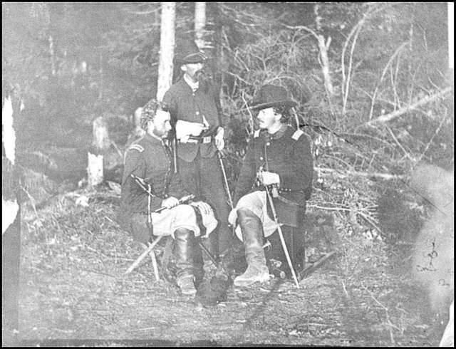 [The Peninsula, Va. Lts. George A. Custer, Nicolas Bowen, and William G. Jones]