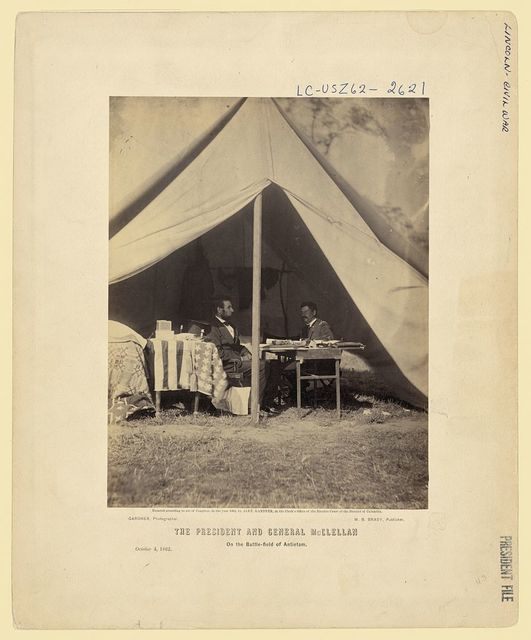 The President and General McClellan on the Battle-field of Antietam