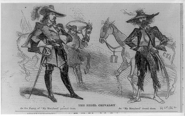 """The rebel chivalry as the fancy of """"My Maryland"""" painted them; as """"My Maryland"""" found them."""
