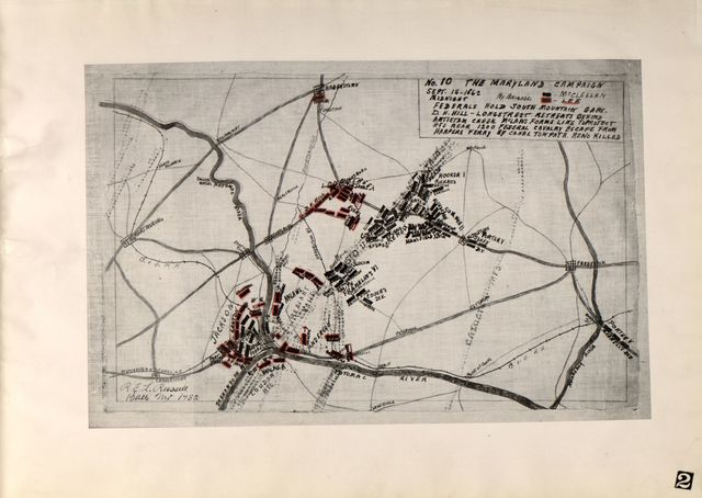 Thirty pen and ink maps of the Maryland Campaign, 1862 : drawn from descriptive readings and map fragments /