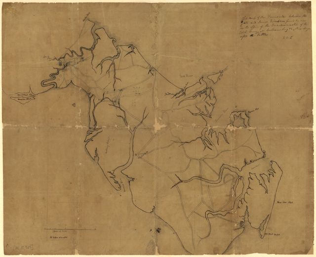 This map of the peninsula between the York and James rivers was found by me in the office of the quartermaster of the rebel army at Williamsburg, Va. three days after the battle : J.O.S. /