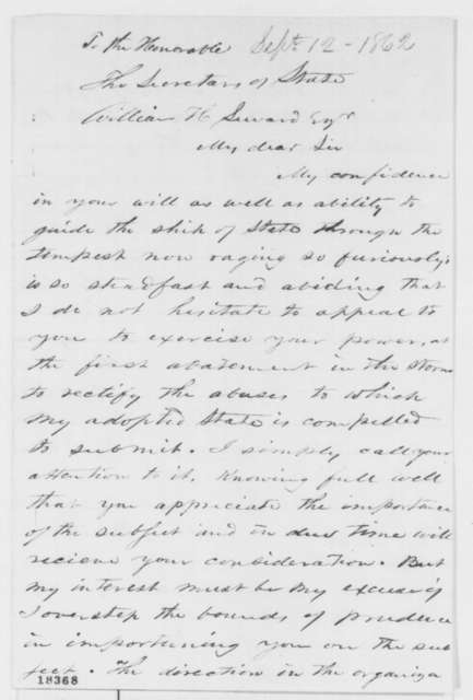 Thomas E. H. Cottman to William H. Seward, Friday, September 12, 1862  (Affairs in Louisiana)