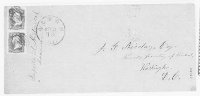 Thomas S. Pinckard to John G. Nicolay, Thursday, March 13, 1862  (Sends documents pertaining to the duel between Lincoln and Shields)