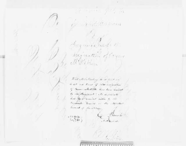 Timothy P. Andrews to Benjamin F. Larned, Monday, July 07, 1862  (Telegram regarding military affairs; endorsed by Julius Gerasche)