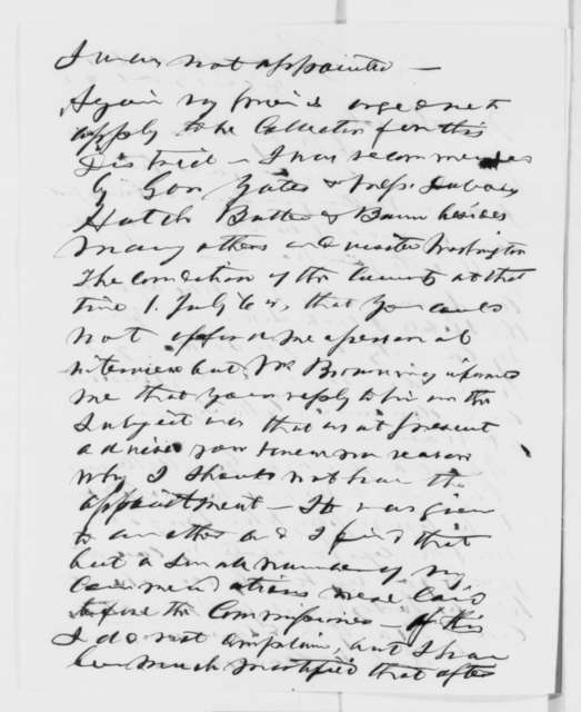 Uri Manly to Abraham Lincoln, Friday, December 12, 1862  (Seeks office; endorsed by Lincoln, Dec. 23, 1862)