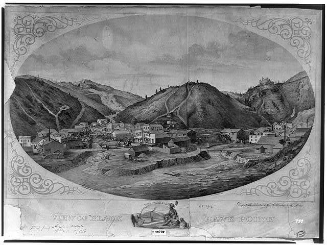 "View of ""Black Hawk Point"" / Haerting lith. ; lith. Chas. Shober ; J.E. Dillingham del."