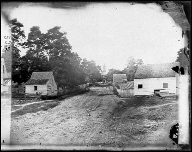 [Warrenton, Va. Outskirts of town with courthouse in distance]