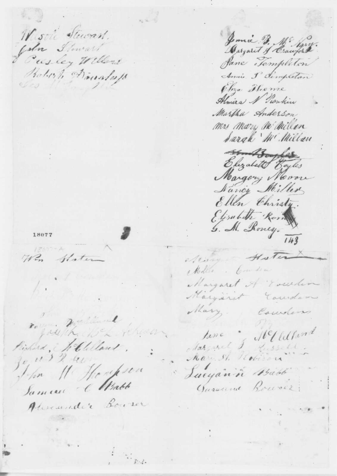 Washington County Pennsylvania Citizens to Abraham Lincoln, Thursday, August 28, 1862  (Petition recommending emancipation)