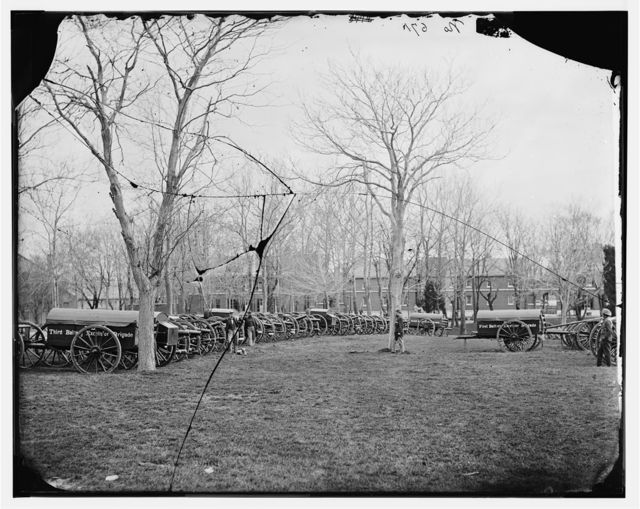 Washington, District of Columbia. Park of artillery (Excelsior Brigade) at Washington Arsenal