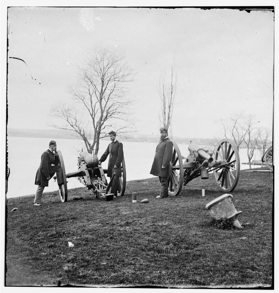 Washington, District of Columbia. Wiard guns at U.S. Arsenal