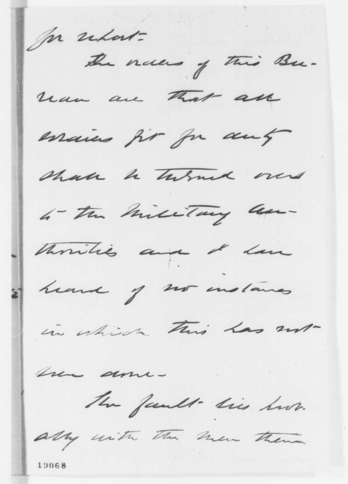 William A. Hammond to Abraham Lincoln, Saturday, October 18, 1862  (Medical situation in Baltimore)