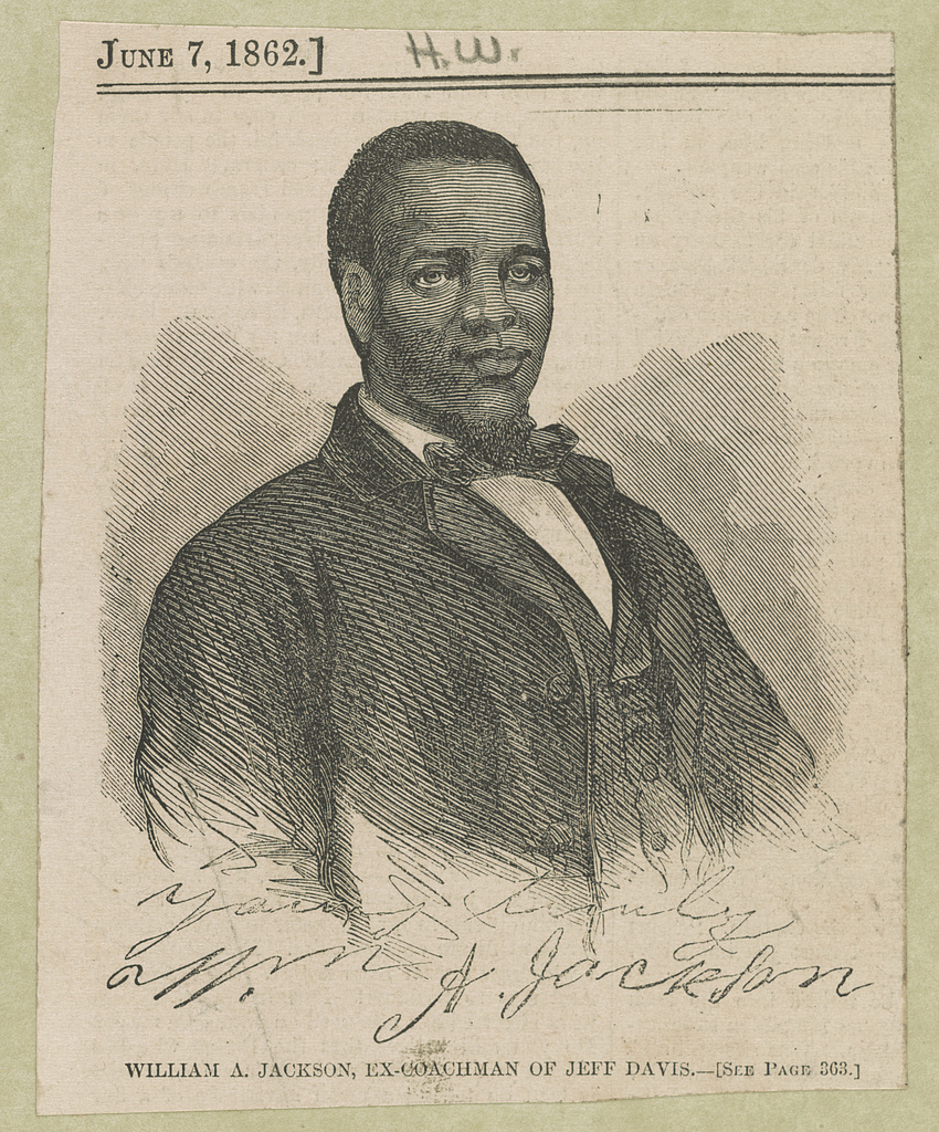 William A. Jackson, ex-coachman of Jeff Davis