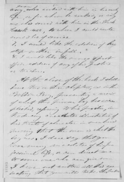 William M. Thayer to Orville Browning, Friday, July 18, 1862  (Requests information on Lincoln's early life for a biography)