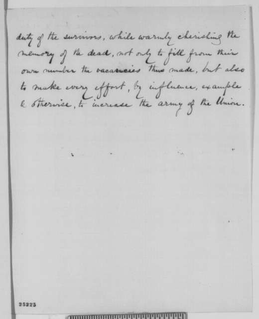 William W. Hoppin, et al. to Abraham Lincoln, Thursday, July 31, 1862  (Send resolutions passed by Yale alumni)
