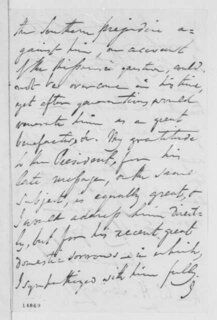 Winfield Scott to William H. Seward, Saturday, March 08, 1862  (Plan for compensated emancipation)