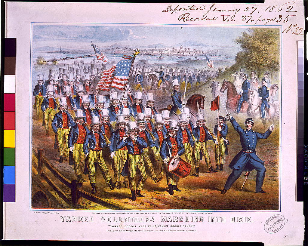 Yankee volunteers marching into Dixie / J.H. Bufford's lith., Boston.