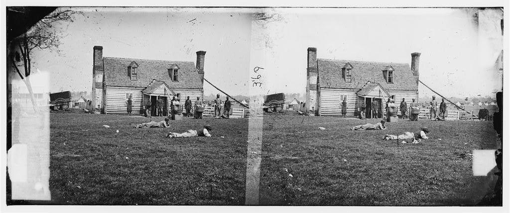 Yorktown, Virginia (vicinity). Allen's farm house. Headquarters of General Fitz John Porter. Lafayette's headquarters before the battle of Yorktown