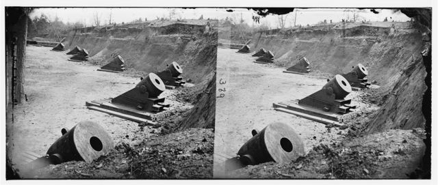 Yorktown, Virginia (vicinity). Battery No. 4, mounting 13-inch mortars. East north end