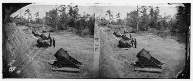 Yorktown, Virginia (vicinity). Battery No. 4, mounting 13-inch mortars. South end