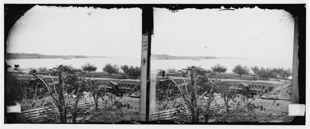 Yorktown, Virginia (vicinity). Federal Battery No. 1 two miles below Yorktown. Parrott guns in peach orchard