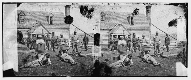 Yorktown, Virginia (vicinity). Group of contrabands at Allen's farm house near Williamsburg Road