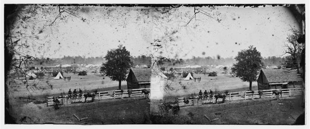 Yorktown, Virginia (vicinity). Headquarters of General George B. McClellan, Camp Winfield Scott