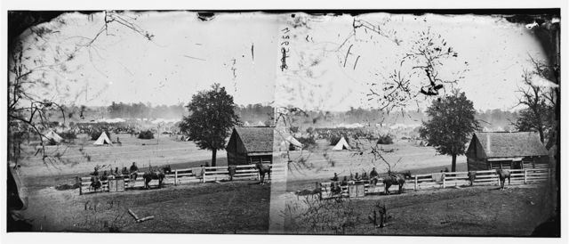 Yorktown, Virginia (vicinity). Headquarters of General McClellan at Camp Winfield Scott