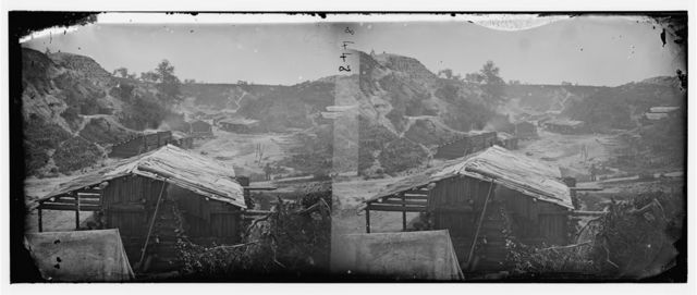 Yorktown, Virginia. View of ravine, where a large number of Confederate powder magazines were located